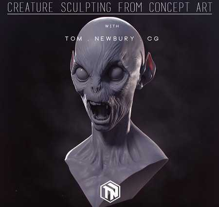 Gumroad – Creature Sculpting in Zbrush from Concept Art – Tom Newbury