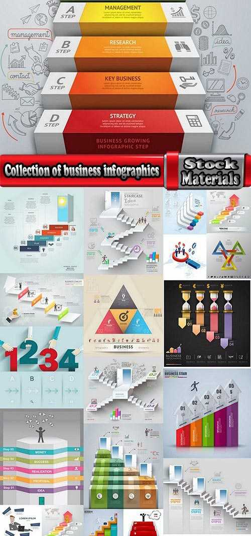 Collection of business infographics template is an example of a web site is a step by step calculati...