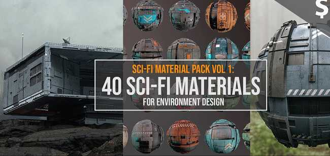 Artstation – Sci-Fi Material Pack Vol 1