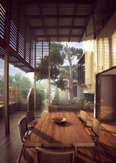 Terrace Exterior Scene for 3ds Max