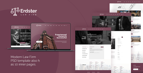 ThemeForest - Erdster - Law Firm PSD Template 21598151