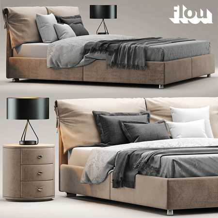 Bed flou Letto Nathalie