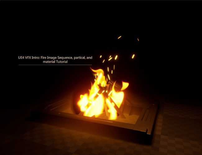 Artstation – UE4 VFX Intro: Fire Image Sequence, partical and material Tutorial