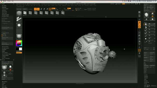 Udemy – Zbrush Hard Surface Sculpting for All Levels! by Sean Flower