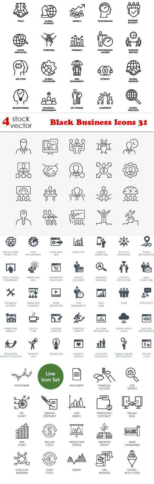 Black Business Icons 31