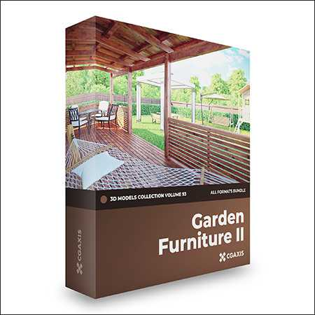 CGAxis Volume 93 Garden Furniture 3D Models Collection