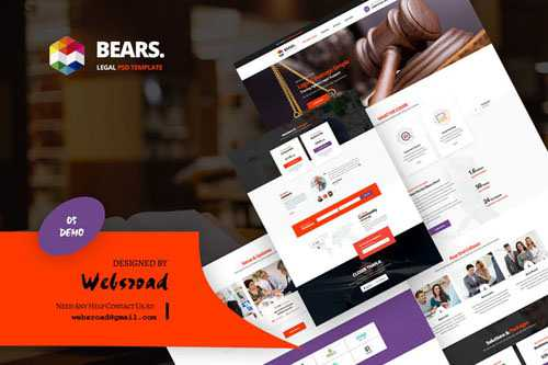 Bear's - Legal Services PSD Template