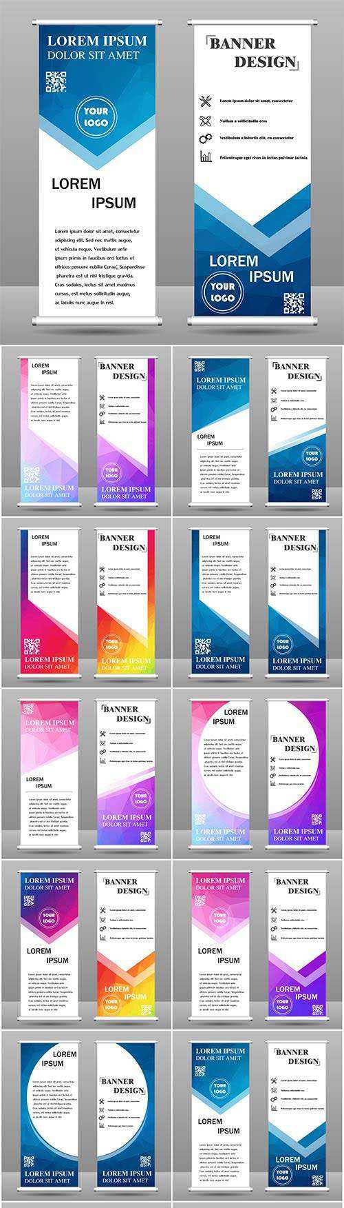 Collection banner design for business and education