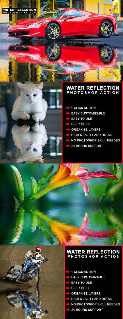 Water Reflection Photoshop Action – 2506091