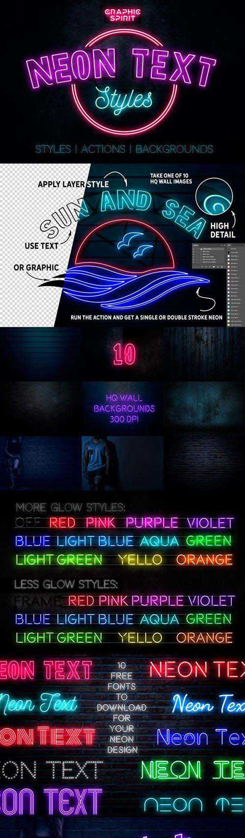 GraphicRiver – Neon Text Layer Styles & Extras 23426935