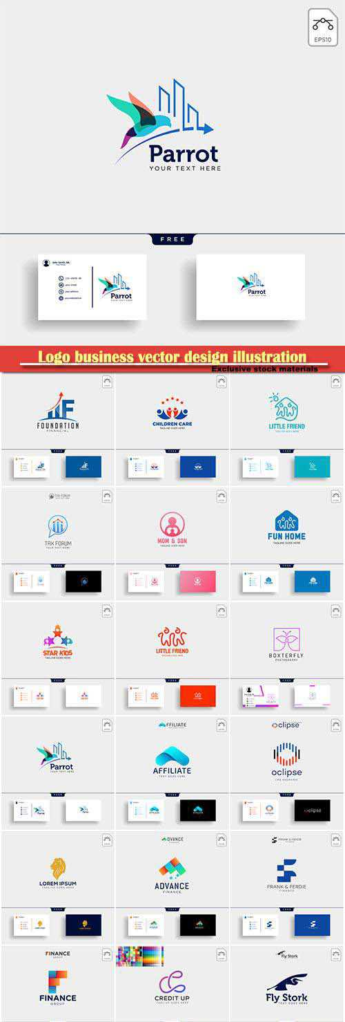 Logo business vector design illustration # 15