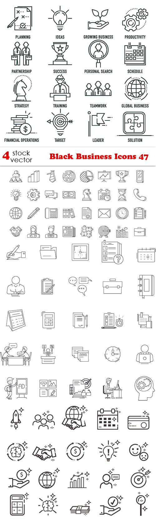 Black Business Icons 47