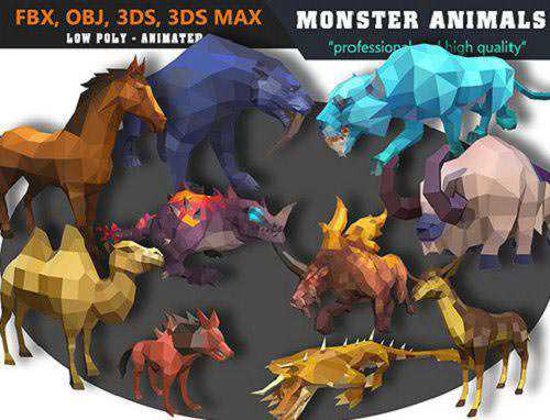 Cubebrush - Animals Monster Cartoon Collection - Animated