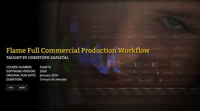 FXPHD – FLM219 – Flame Full Commercial Production Workflow
