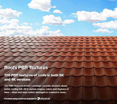 CGAxis 8K PBR Textures Collection Volume 22 – Roofs