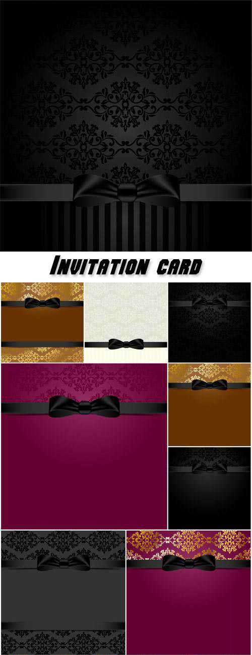 Invitation card, VIP vector backgrounds with patterns