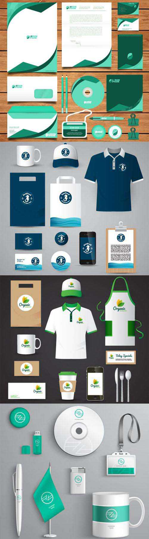 16 Corporate Identity & Stationery Collection in Vector