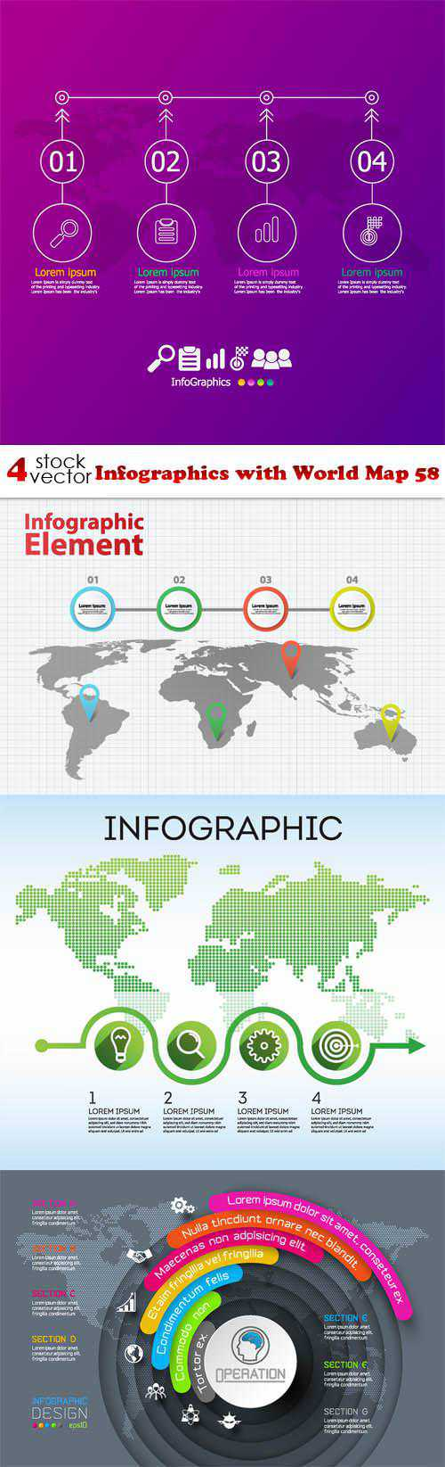 Infographics with World Map 58