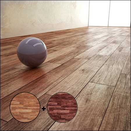 Max Parquet Material With 2 Texture