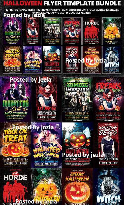 Psd Halloween Flyer Template Bundle – 922161