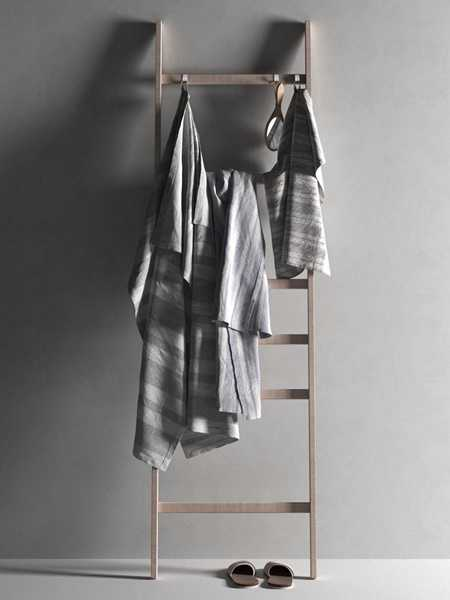 Ladder with Towels 2 3D model