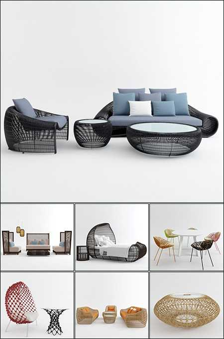 3dMax 3D Models Outdoor Furniture Collection