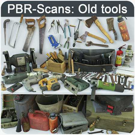 CGTrader – Collection old tools PBR-Scans
