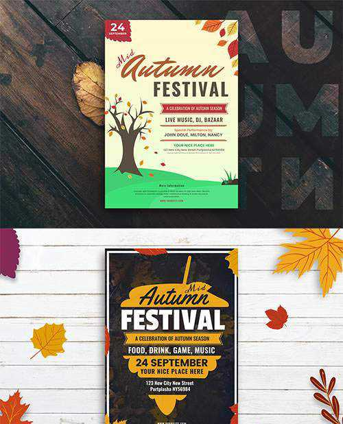 PSD 2 Mid-Autumn Party and Festival Flyers