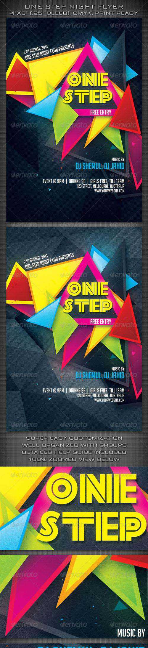 One Step Night Party Flyer 5714210