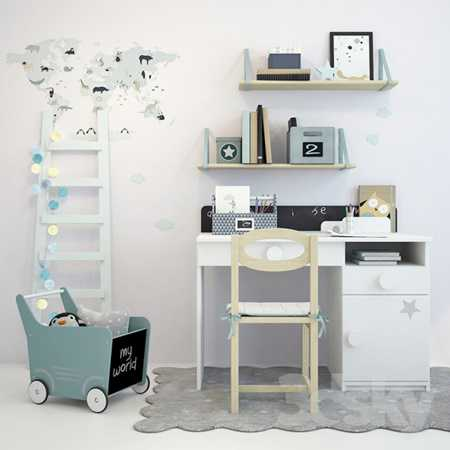 Writing table and decor for a nursery 1