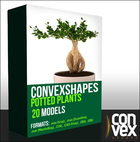 Max  CGAXIS Convexshapes 3D Potted Plants Collection