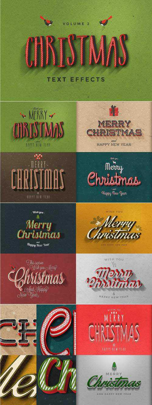 CM – Christmas Text Effects Vol.2 – 111317