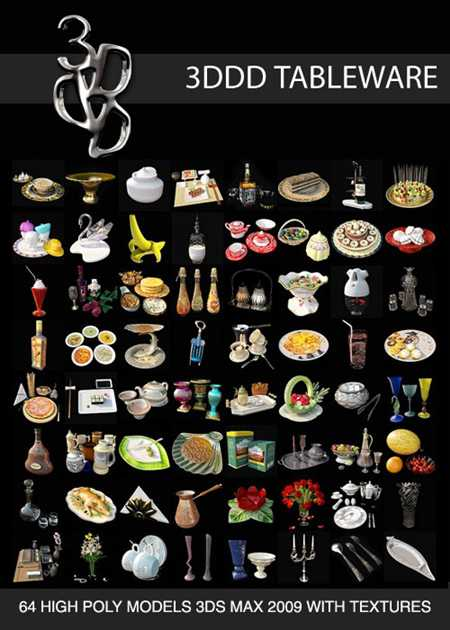 Max 3DDD Tableware Collection
