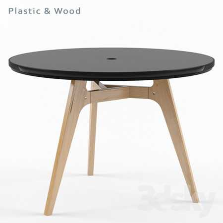 P&W (plastic and wood) table