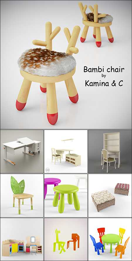 Max Modern Table and Chair Childroom