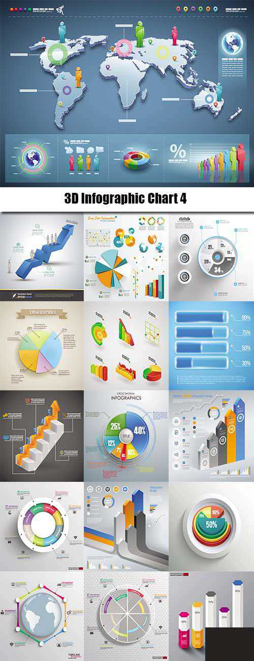 3D Infographic Chart 4