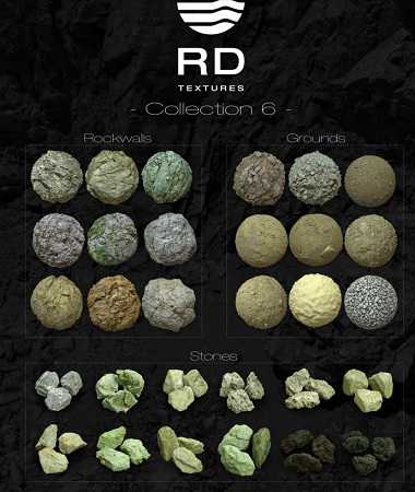 Real Displacement Textures – RDT Collection SIX