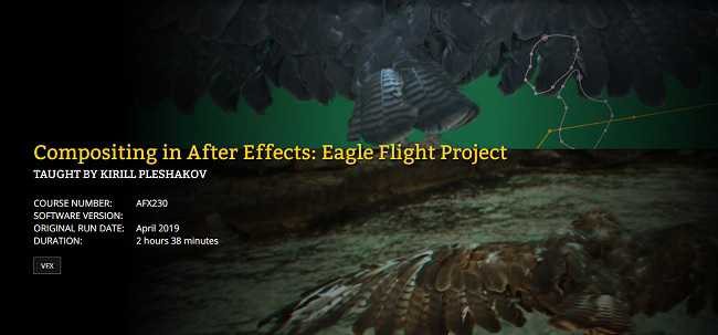 FXPHD – AFX230 – Compositing in After Effects – Eagle Flight Project