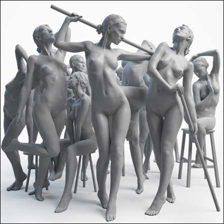 3D MODEL PACK 01 / CLASSICAL FEMALE BODY SCANS