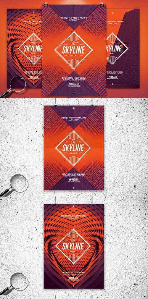 The Skyline | 3in1 Flyer Template