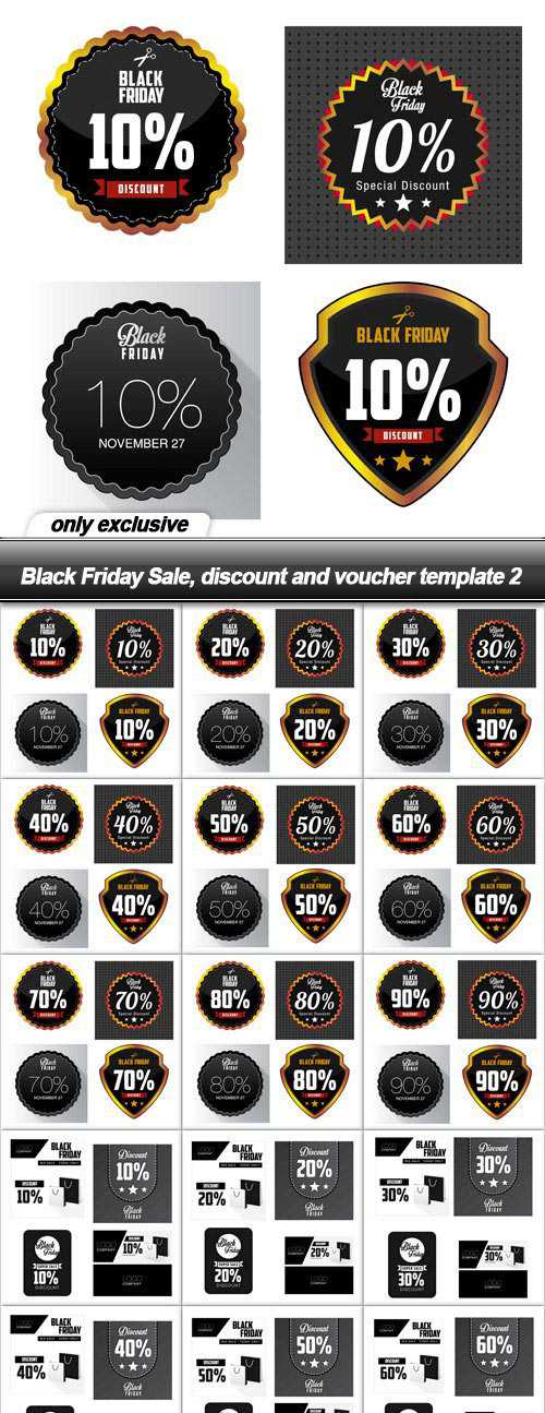 Black Friday Sale, discount and voucher template 2 – 27 EPS
