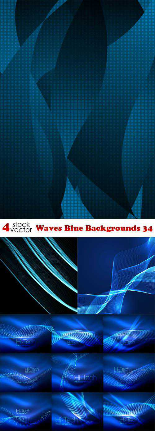 Waves Blue Backgrounds 34