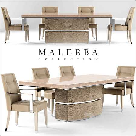 Table and chair malerba