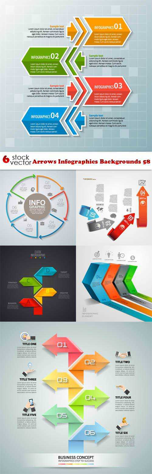 Arrows Infographics Backgrounds 58