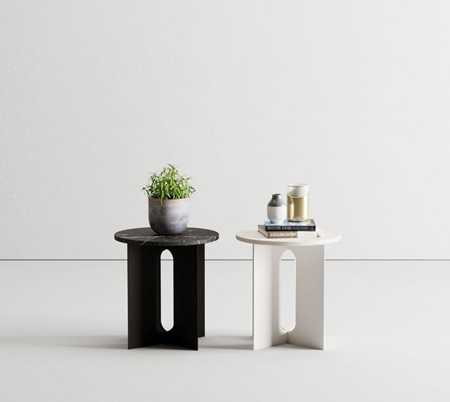 Modern side table ornament combination