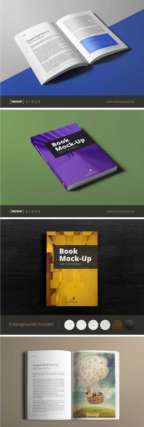 Book Mock-Up / Soft Cover Edition / Hard Cover Edition