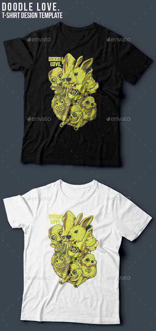 GR - Doodles T-Shirt Template 11453739
