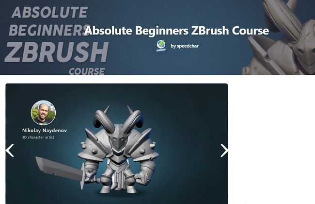 FlippedNormals – Absolute Beginners ZBrush Course