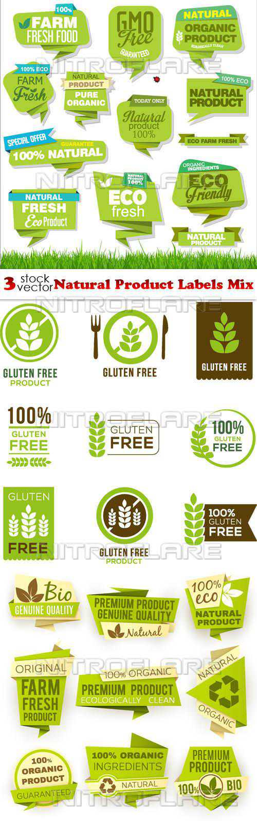 Natural Product Labels Mix
