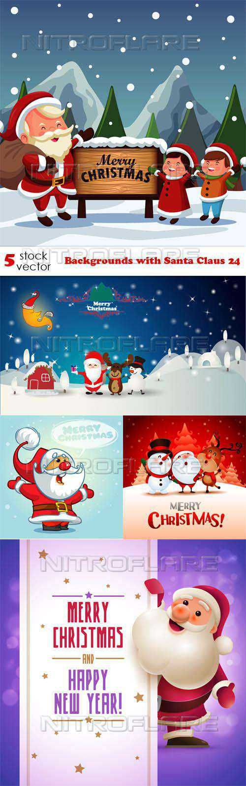 Backgrounds with Santa Claus 24